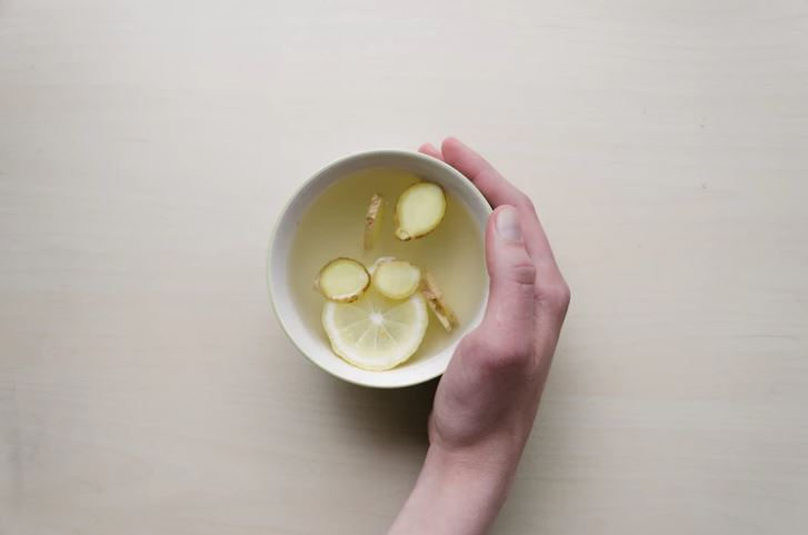 Cup of nausea-quenching ginger tea
