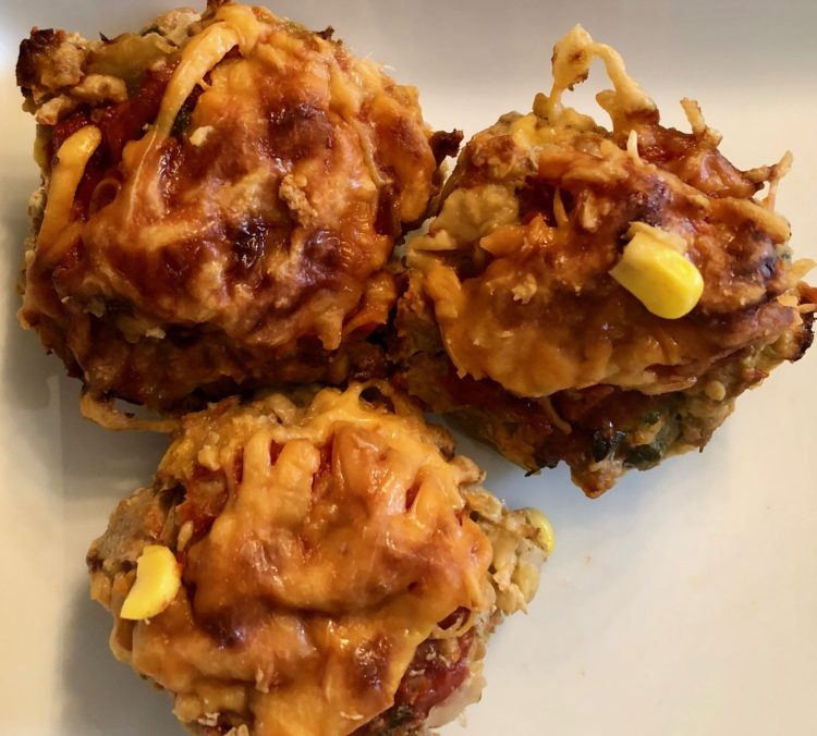 Mexican Turkey Meatloaf Cupcakes by FitFortyForever