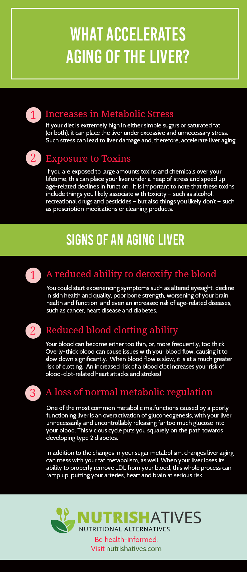 What Accelerates Aging of the Liver