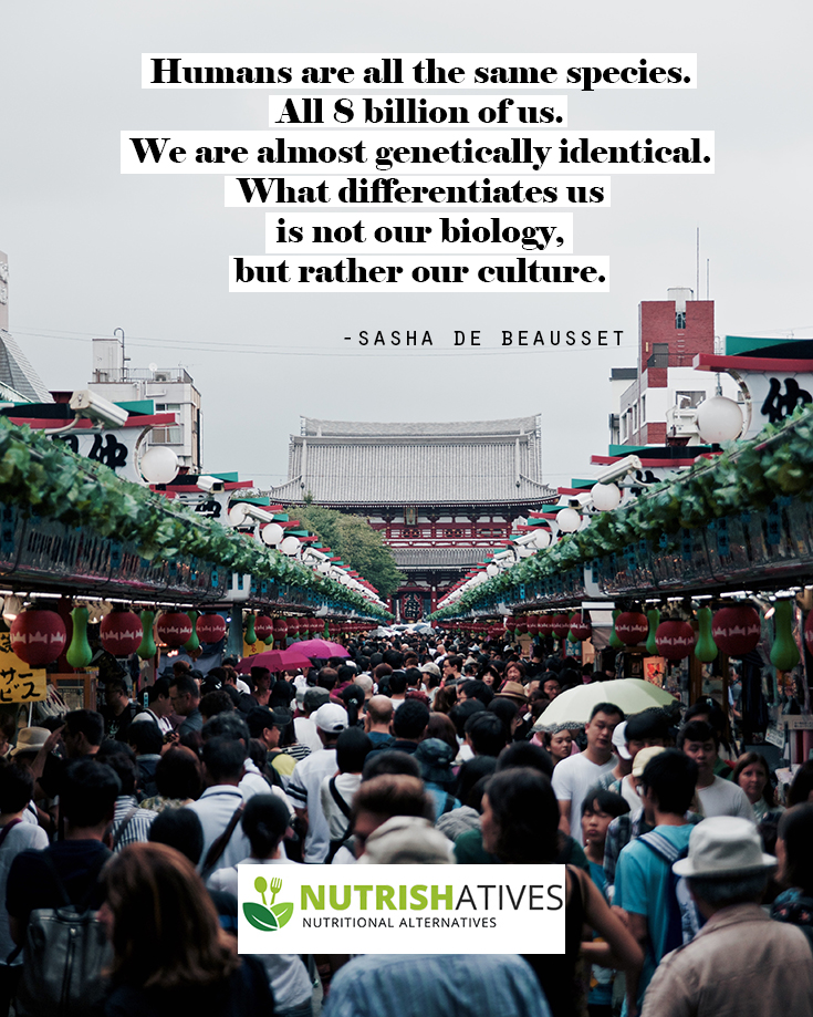 quote on biology and culture by Sasha de Beausset