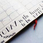 calendar with motivational phrase
