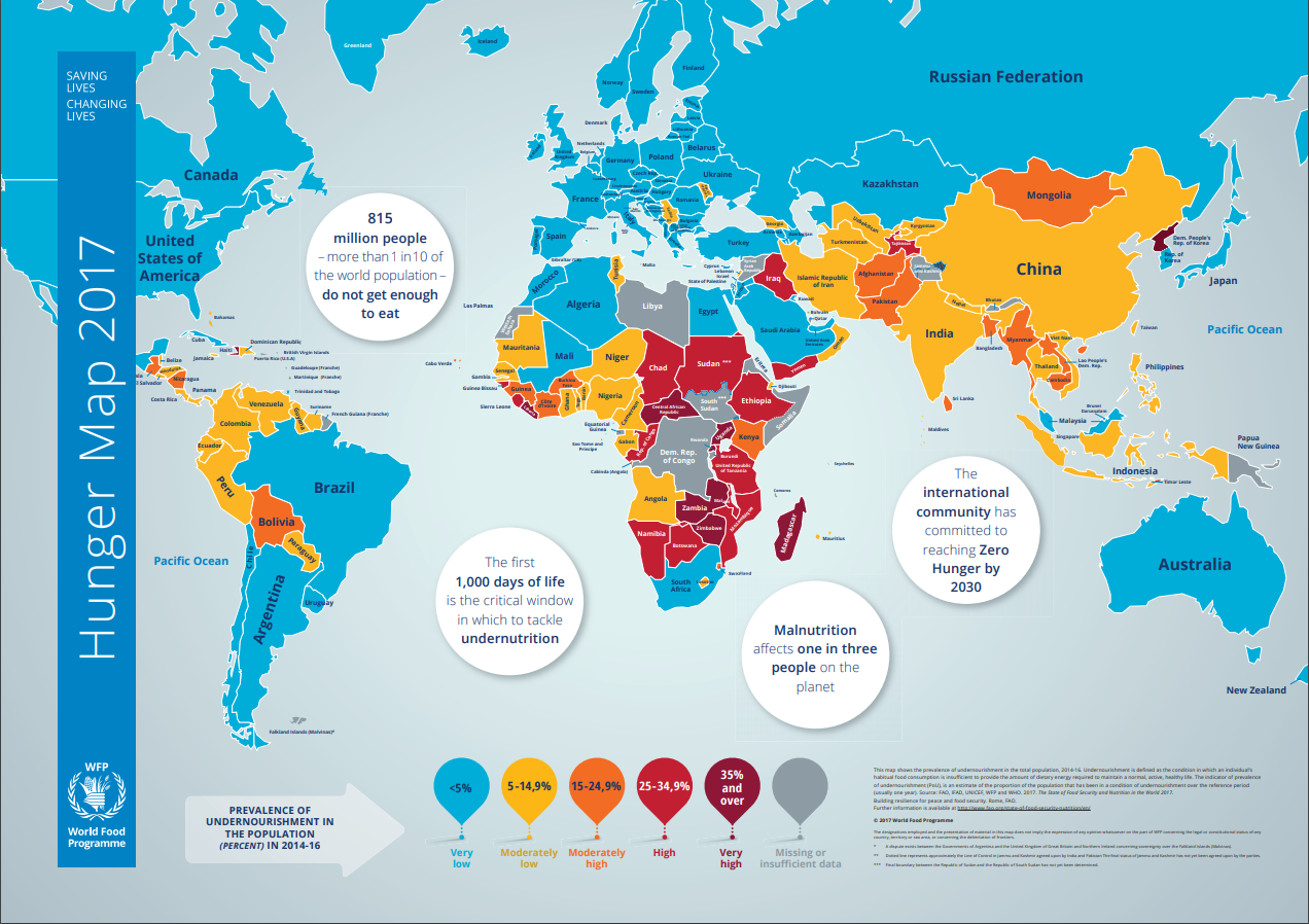 World Food Programme Hunger Map 2017