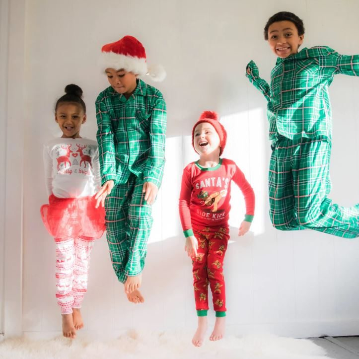 Jumping Kids in Pajamas