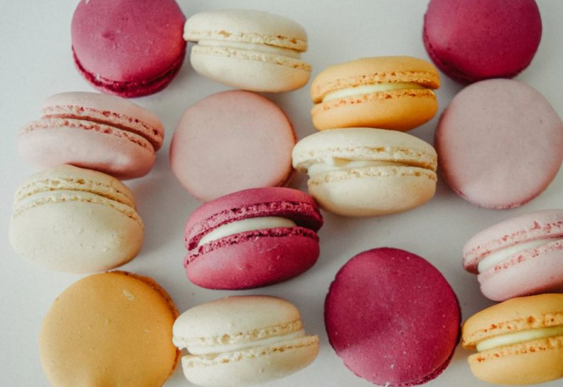 Assorted Macaroons on White Table