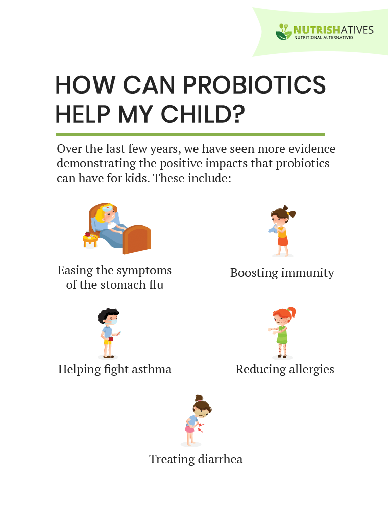 How Can Probiotics Help My Child Infographic