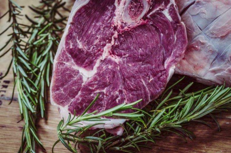 Fresh steaks and thyme
