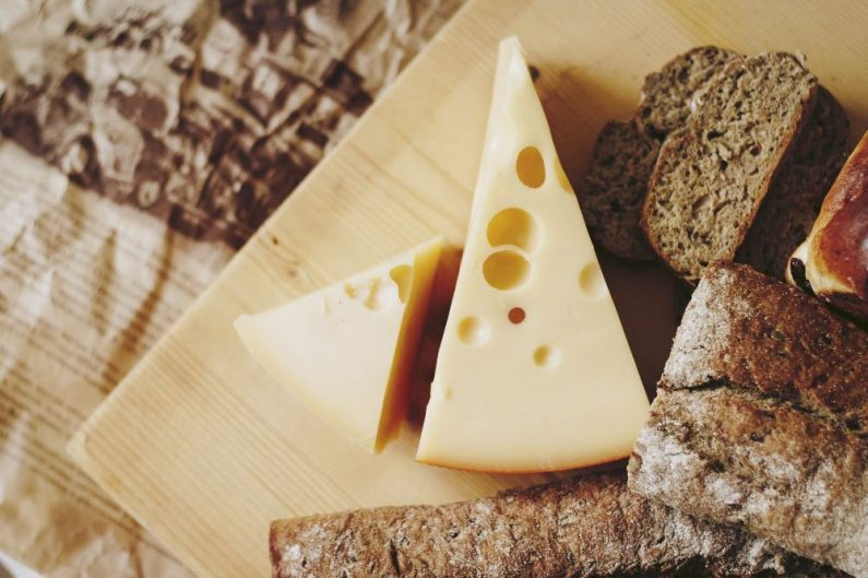 Cheese and bread platter